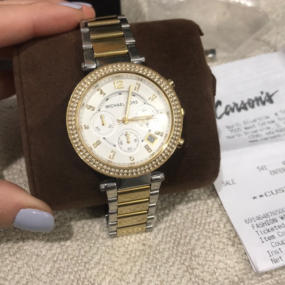 e775b118c75e Michael Kors Womens MK5626  Parker  Two-Tone Watch.  M 5ac42730fcdc3150015a40d3